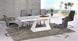 black high gloss dining table and chairs unique modern white dining table furniture