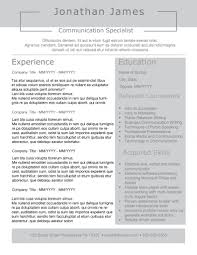 Resume Template Eye Catching Objectives Top Throughout Templates