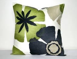 green and gray pillows. Modren And Robert Allen Lime Green And Gray Decorative Pillow Cover 18 Inch Modern  Floral Accent Throw Cushion Throughout And Pillows R