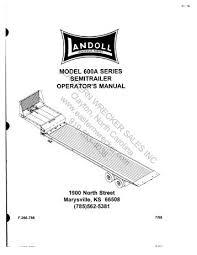 landoll trailer wiring diagram wiring diagram libraries models 317c 318c 319c trailer operator u0027s manual eastern wrecker landoll trailer wiring diagram