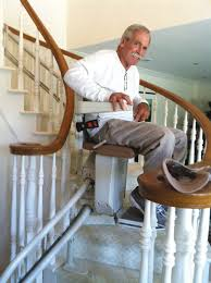 home chair elevator. mike donohue on his stannah 260 stair lift rounding the curve. home chair elevator r