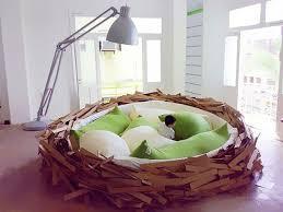 Birds Nest Bed Bedroom Unique Bird Nest Bedroom Design Gray Floor Lamp Green