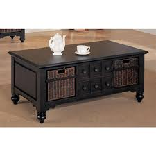 rustic rectangle coffee table with storage