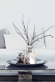 Leuke Schaal Op Tafel Als Winter Decoratie Grijze Schaal Met 3