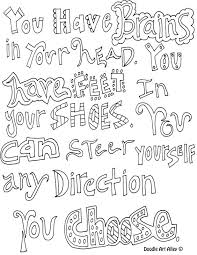 Quote coloring pages from doodle art alley. Quote Coloring Pages Doodle Art Alley