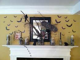 halloween gallery wall decor hallowen walljpg colorful halloween mantle decorations combined witch brush wall display a curved floating halloween mantle decorations with gravery