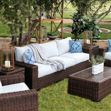 patio couch contemporary woven patio sofa in dark brown patio chairs diy patio couch