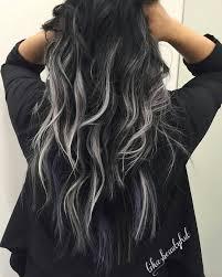 Black Silver Balayage Curly Hair More