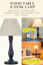 Noah Wood Table Desk Lamp Reading Light Led Bulb Cone