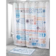 beach words shower curtain collection