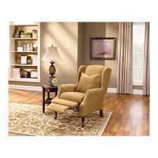 chair impressive recliner covers sure fit stretch pique wing slipcover in relaxation and comfort recliners