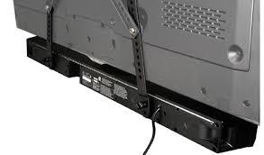 tv sound bar. a soundbar attached to tv using omnimount\u0027s ocsba. tv sound bar .