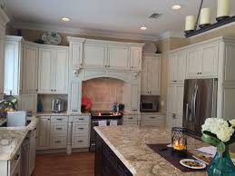 white glazed cabinets and solaris granite