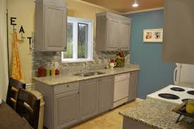 image of diy chalk paint kitchen cabinets