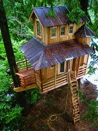 The Enchanted Forest Treehouse. A three-story treehouse, probably the  tallest treehouse in British Columbia, Canada.