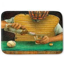 decorative bathroom mats will bullas catcher in the rye baseball liquor whiskey drink