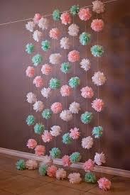 Tissue Paper Flower Wall Art Tissue Flowers Tissue Paper Flowers Baby Shower Baby Shower