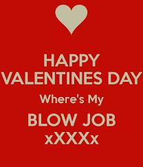 Valentines day blow job