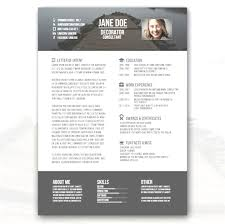 Creative Resume Templates Free Print Free Creative Resume Templates Word Format Creative Resume 15