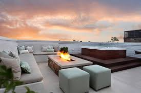 rooftop furniture. Tabletop Fire Pit Patio Modern With Hot Tub Steps Furniture Rooftop N