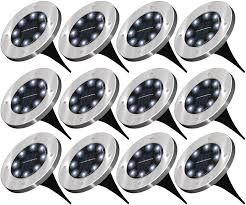 Top Rated Solar Path Lights Sunco Lighting 12 Pack Solar Path Lights Dusk To Dawn 6000k Cross Spike Stake For Easy In Ground Install Solar Powered Led Landscape Lighting