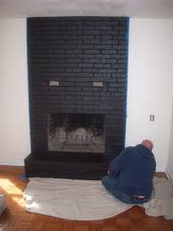 how to paint brick fireplace unique interior painting brick wall fireplace panel with dark grey color