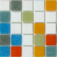 sample of brio blend logo glass mosaic tile