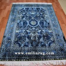 4x6 blue handmade hand knotted persian turkish silk carpet whole facotry pictures photos