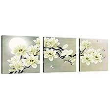 natural art white magnolia butterfly under the moon modern giclee canvas prints paintings to on white magnolia wall art with amazon natural art white magnolia butterfly under the moon