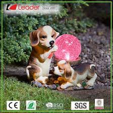 popular resin cute dog statue with