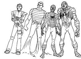 Small Picture Spiderman Vs Venom Coloring Pages wwwallegiancewarscom www