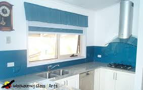 sea theme wathaurong blue kitchen splashback