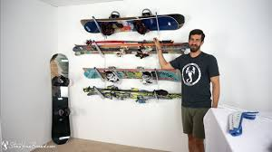 ski snowboard storage rack home rack yourboard