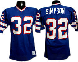 Game-used Bills O Expert Simpson Memorabilia j Jersey