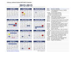 Vertex42 Calendar Template