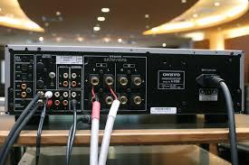 onkyo a 9150. a-9150の背面端子部。入力端子は、アナログrca、光デジタル、同軸デジタル、フォノを備える。出力端子はスピーカーアウトのほか、フロントに6.3mm onkyo a 9150
