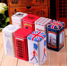 set of 7 retro vintage london style tea tin box christmas gift