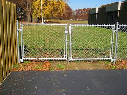 Chain Link Fence Gate Installation Peiranos Fences Chain Link
