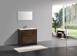kubebath dolce 36 rose wood modern bathroom vanity with quartz countertop dolce vanities