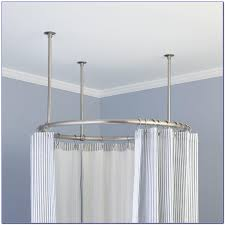rounded shower curtain rod. Round Shower Curtain Rod For Corner Rounded