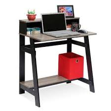 computer furniture for home. Simplistic Black/French Oak Grey Computer Desk With A Frame Furniture For Home
