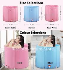portable foldable bathtub bath tub bucket inflatable spa sauna