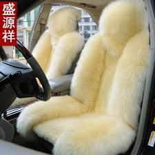 car seat cover cushion for front 2 natural pure wool sheepskin material lada wv toyota