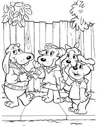 pound puppy coloring pages page printable