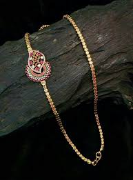 side pendant gold chains
