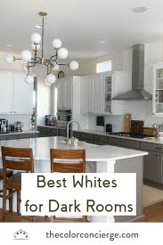 white paint colors for dark rooms