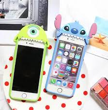 cute iphone 7 cases. iphone 7 plus anime cases cute cartoon monsters mike stitch case for 6s soft iphone l