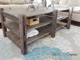 arhaus inspired coffee table featuring sawdust to sequins