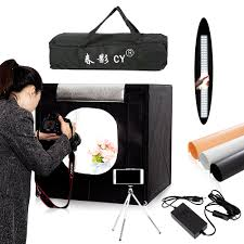 cy 60 60cm led photo studio light tent softbox shooting light tent soft box portable bag ac adapter for jewelry toys shoting charger
