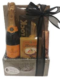 mini celebration chagne gift basket